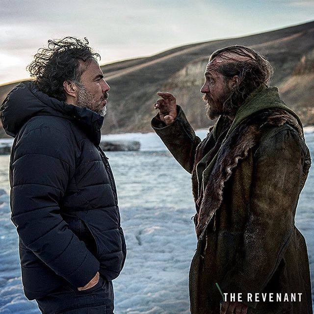 Two great talents, working together while making #TheRevenant.