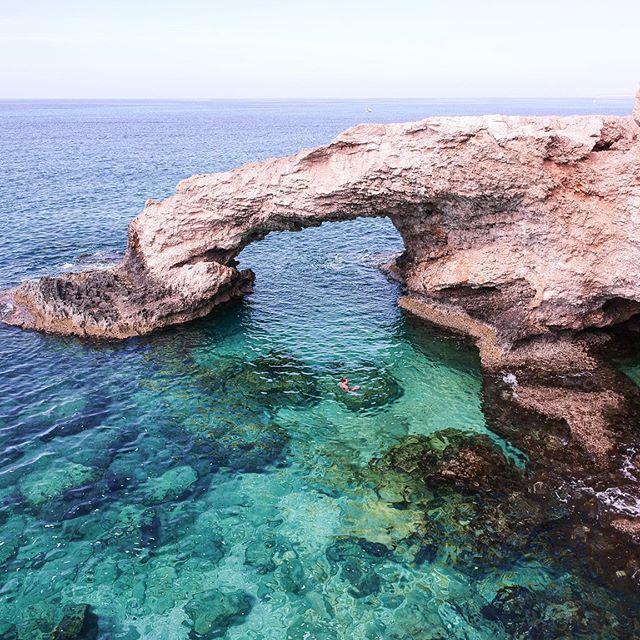 the Love Bridge 💛💙🖤 . . . . . . . . . . . . . . . . . . . #cyprus#greece#ayianapa#passionpassport#fromwhereidrone#droneoftheday#igtravel#drone_greece#athensvoice#greece_drone#cyprusdrone#visitcyprus#innercyprus#heartcyprus#aboutcyprus#ohitscyprus#skysupply#transfer_visions#skypixel#gameofdronez#dailyoverview#ig_greece#droneporn#dronedose#dronegear#condenast#cntraveler#beautifuldestinations