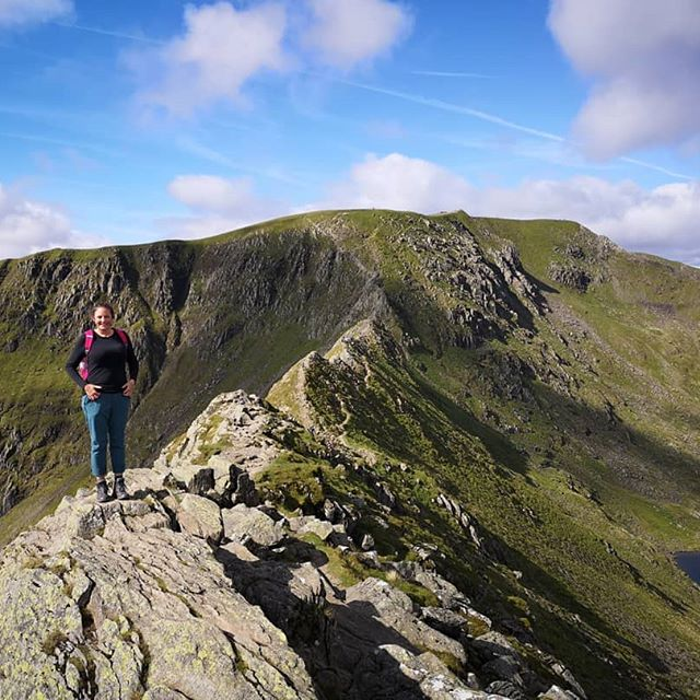 Striding Edge - Helvellyn The hike up to it from Glenridding was challenging. But once we plateaued and got the view of the summit in front of us....we suddenly got a.spring in our step again! #stridingedge #helvellyn #wainwright
