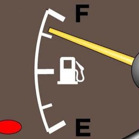 Уровень топлива: бензина и газа