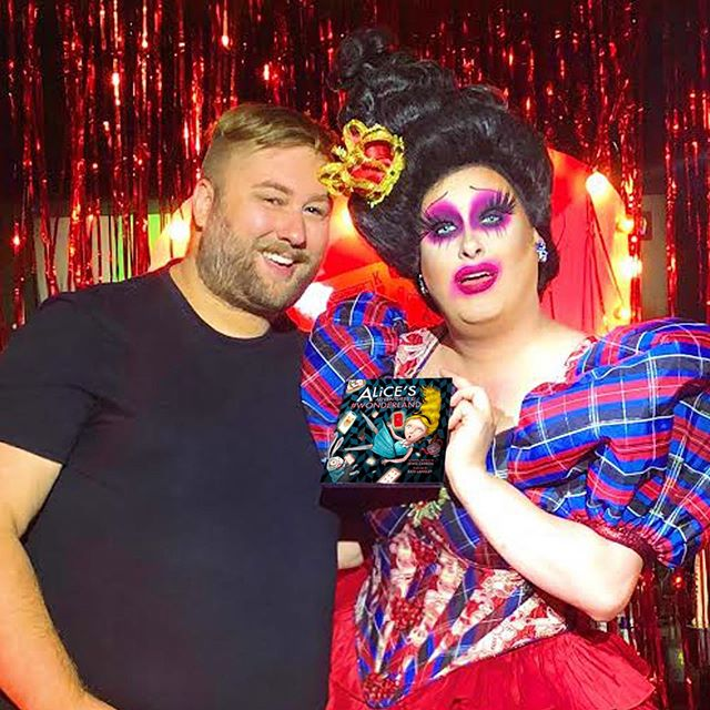 Last night we went down the rabbit hole with this queen of our heart Miss @sherrypienyc! If you haven't seen her show, or one of her many shows in town, you must! Talent, brilliance, uniqueness and yes 💖heart💖 are the things that make up this artist! Oh and since @sherrypienyc  was doing an #Alice inspired show last night, I had to give her a signed copy of ALICE'S ADVENTURES IN #WONDERLAND. Picture via @nclarkspear