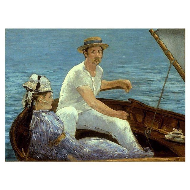 «В лодке», Эдуард Мане.