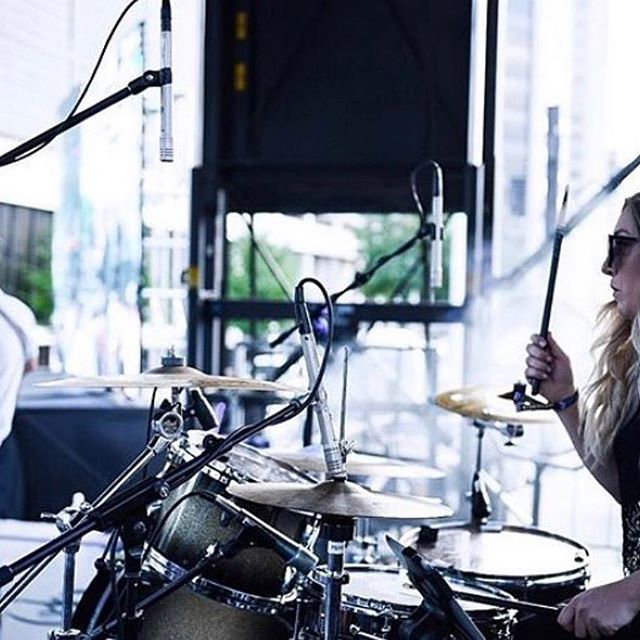 Our friend @sammiflowerpotts is always bringing her A game! #heartbeatpercussion #heartbeatcymbals