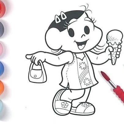 Oi meus amores!! E quem gosta da turma da mônica o nosso desenho de hoje é a fofa da magali. O vídeo completo vc vê lá no canal. Beijos #turmadamonica #colorir #desenhos #kids #youtubers #forkids #aprender #tintaguache