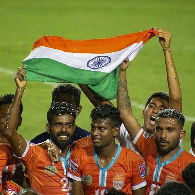 Congratulations @chennaicityfootballclub !!! Champions of India!Hero I-league title Winner!!! #chennaicityfc #chennaiyinfc #ileague #indianfootball #titlewinners2019 #titlewinner #proudindian #football #_soi  @southerners_ccfc @roaringlions_ccfcfanclub @chennai_city_fc_era @ileagueofficial