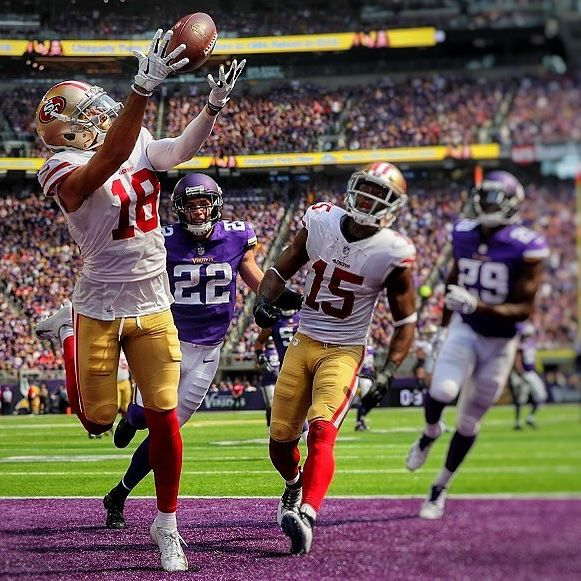 Dante Pettis emerged late in his #49ers rookie season.🤜🏽 In Pettis' final five games of the year (Weeks 12-16) he was #fantasyfootball WR#8 overall 😃👍🏽 This WR#1 production came with Nick Mullens at quarterback. 😬  Don't be surprised if Pettis is a consistent WR#2 in 2019 with the return of #jimmyg 😎  #nfl #fantasysleepers #fantasy #nflbetting