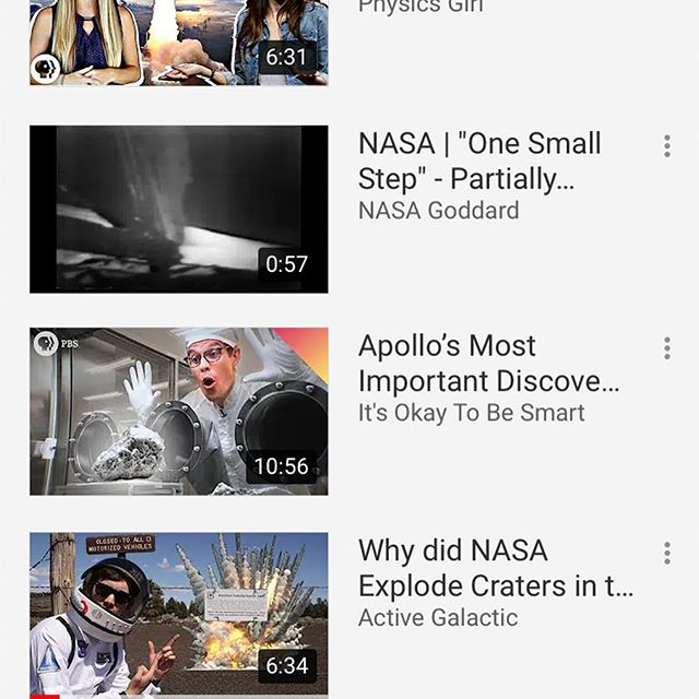 We're counting down to the #Apollo50th this weekend with @thescishow @nasa @thephysicsgirl @smartereveryday @okaytobesmart and more great creators with a playlist of amazing videos about the Apollo program! Check it out! #MoonLanding50 #astronomy #space