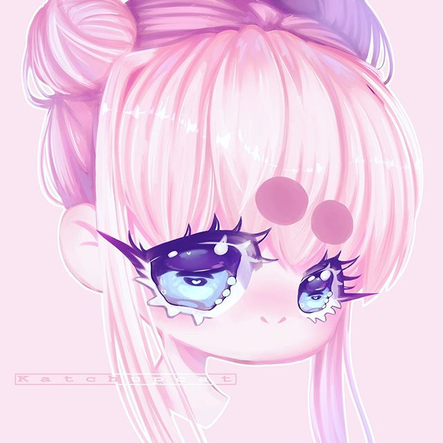Finally finished something that i like uwu So happy with this~ • • • • • • • • • • • • • •• • • • • #chibi#kawaii#sweet#illustration#drawing#painting#digitalart#instagram#instart#instaart#art#artwork#anime#headshot#soft#adorable#cute#katchup_oc#originalcharacter#oc#design#picture