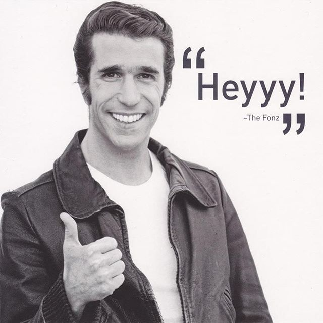 Groogs still got it #fonzie #happydays #heyy