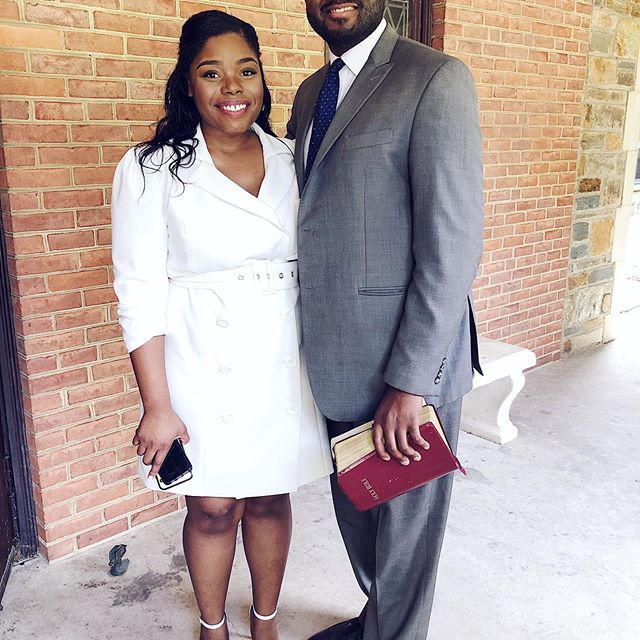 "Me and my ""almost"" husband 😜 #weddingweekend #dmvbride #sabbath #churchflow"