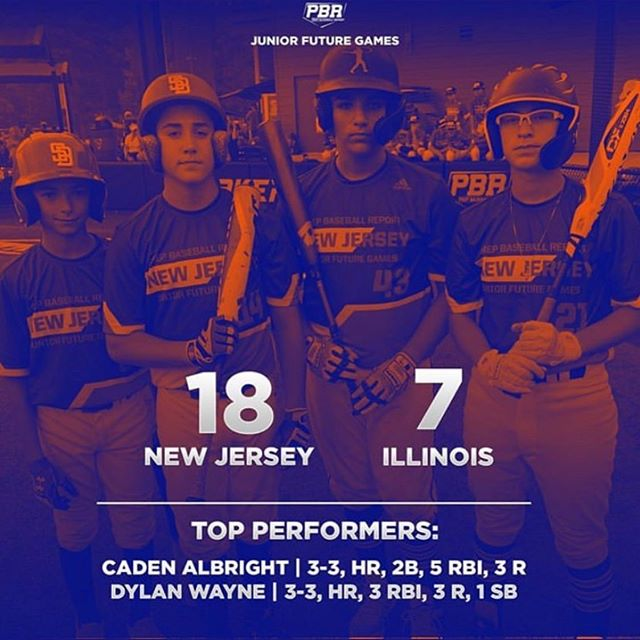 My favorite photo from this weekend went 2-2 in total and was a great experience. Played hard and did good reppin Jersey with pride. #jerseystrong #pbr @pbrnewjersey @joeybaseball12 @gritnj