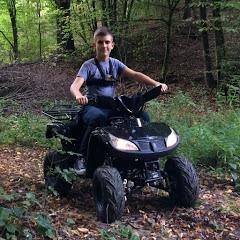 Crazy ATV rider