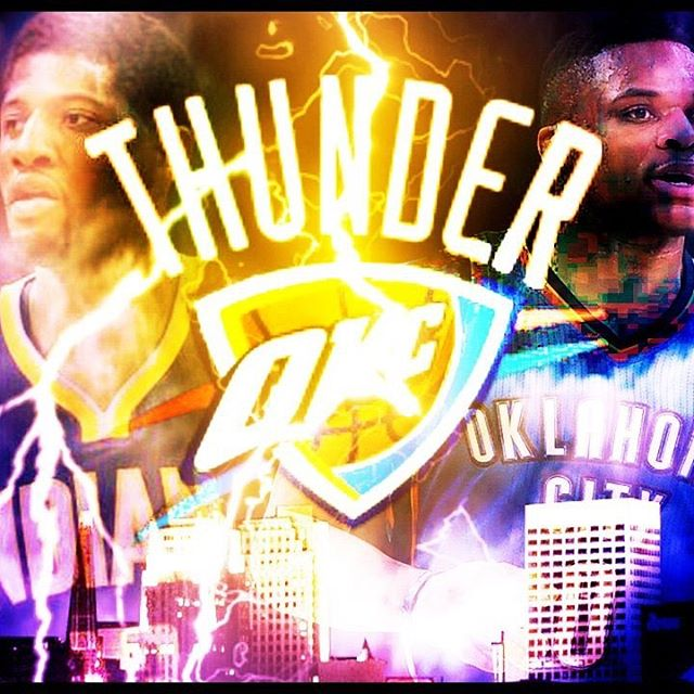 Just made this with the news for a vid I think it turned out well #OKC #Thunder #paulgeorge #russellwestbrook