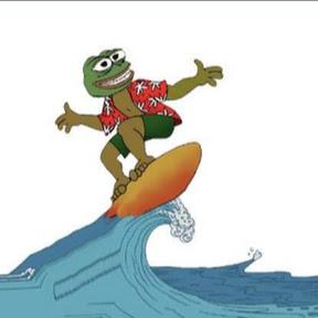 Santa Surfing Beach Broadcast