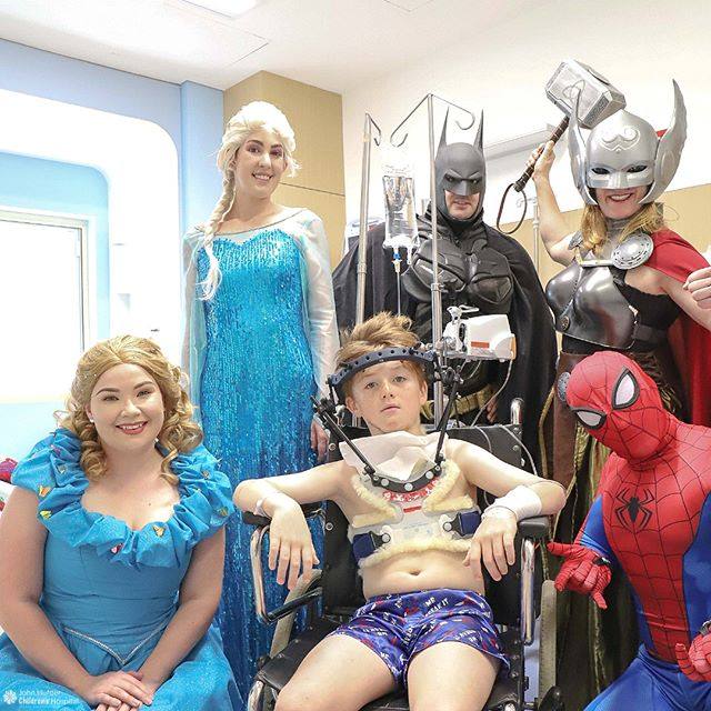 Sometimes you just need a few of your friends to visit while you're in hospital.⠀⠀⠀⠀⠀⠀⠀⠀⠀ ⠀⠀⠀⠀⠀⠀⠀⠀⠀ Following a motorbike accident, 8-year-old Riley will need to spend some time at the Children's Hospital in Newcastle recovering.⠀⠀⠀⠀⠀⠀⠀⠀⠀ ⠀⠀⠀⠀⠀⠀⠀⠀⠀ Hospital is a little easier to be in when you have friends like this from @hunterheroesaustralia.⠀⠀⠀⠀⠀⠀⠀⠀⠀ .⠀⠀⠀⠀⠀⠀⠀⠀⠀ .⠀⠀⠀⠀⠀⠀⠀⠀⠀ .⠀⠀⠀⠀⠀⠀⠀⠀⠀ #hospital #childrenshospital #hunterheroes #hunterheroesaustralia #spiderman #thor #cinderella #elsa #batman #pediatrics #paediatrics #jhch #newcastle #newcastlensw