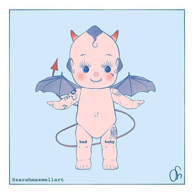 Spicy Lil Devil Baby 👶 . . . #illustrate #illustration #drawing #draw #sketchbook #sketch #graphic #digitalart #photoshop #illustrator #digitalillustration #artistsoninstagram #instaart #instaartist #creatives#art #sarahmaxwellart #insta #pastel #pink #pastelaesthetic #dreamy #love #animeaesthetic