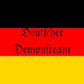 Deutscher Demonstrant