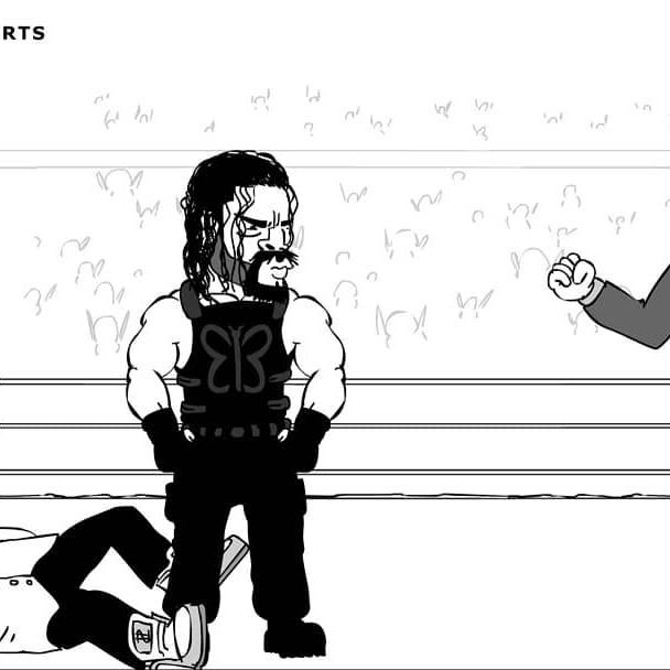LINK IN BIO: Are you ready for Super Showdown? Check out my parody cartoon on YouTube! #wwessd #supershowdown #wwe #romanreigns #shanemcmahon  @romanreigns @shanemcmahonwwe @wwe