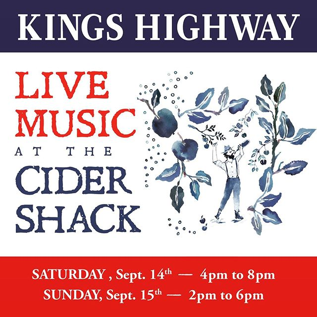 We are gearing up for another perfect late summer weekend at the Cider Shack at @mcenroeorganicfarm. We've got a jam bandy Saturday planned with all kinds of Grateful Dead covers as well as endless other American classics. Sunday, Jonny G is back home and at the helm helping us end the weekend right. Farm kitchen open till 8pm both nights. 🍻🍎🍻🍎🍻