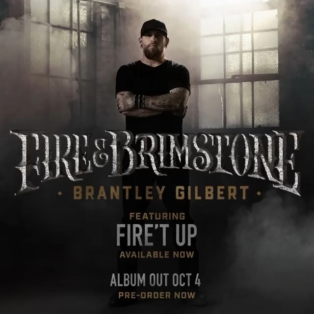 It's a great day for some new music and @brantleygilbert's rockin' new track off of his upcoming album has us all #FiretUp 🙌  Link in bio to pre-order the album #FireAndBrimstone out October 4th! #BGNation 🔥