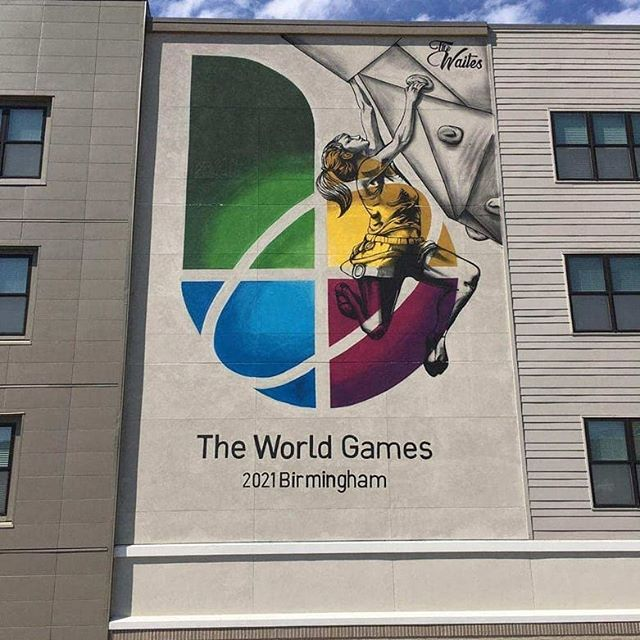 😍😍😍😍#Repost @theworldgames (@get_repost) ・・・ The World Games 2021 mural is ready!!! Isn't it awesome? It's at @thewaitesbham in #Birmingham, #Alabama, and we look forward to receiving selfies from all of you with the mural! The artist is for this amazing piece is @marcusfetch.  #TWG2021 @twg2021bhm #RoadtoBHM #mural #WeAreTheWorldGames