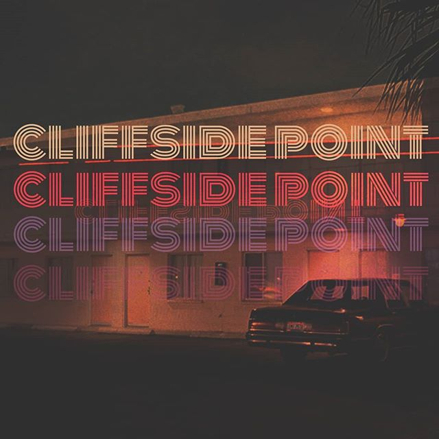 Cliffside Point Motel single official artwork. Also the main art for the upcoming Cliffside Point EP.