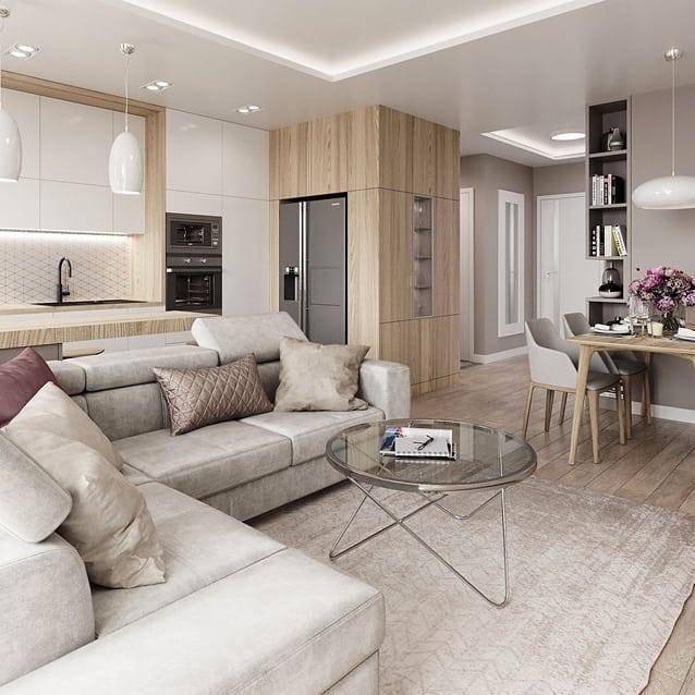 Nowocześnie i przytulnie ❤️ Idealny duet 👏  Proj. @mikadesignpl #homebook #homedecor #homedesign #interior #living #modern #homeinspiration #interiordesign #cozy