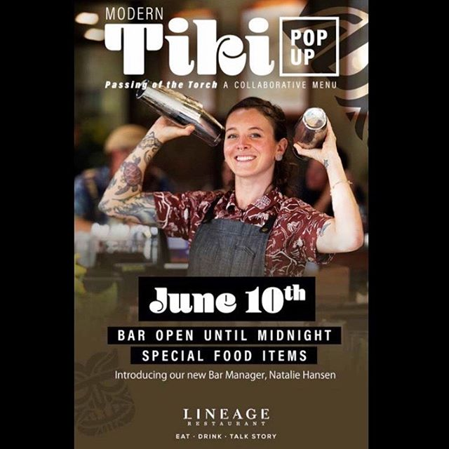 Get yer buns to @lineagemaui this Monday 6/10!! Come celebrate this transitional period for the Lineage bar program and get freaky deeky with some modern tiki, brought to you by @airtheawesome1 and yours truly!! 🍹🌸🌺🌴🏝🏖🍹 • • • #tikitime #moderntiki #partyinthepacific #lineagemaui #lineage #mauinokaoi #freakytiki #borntorum