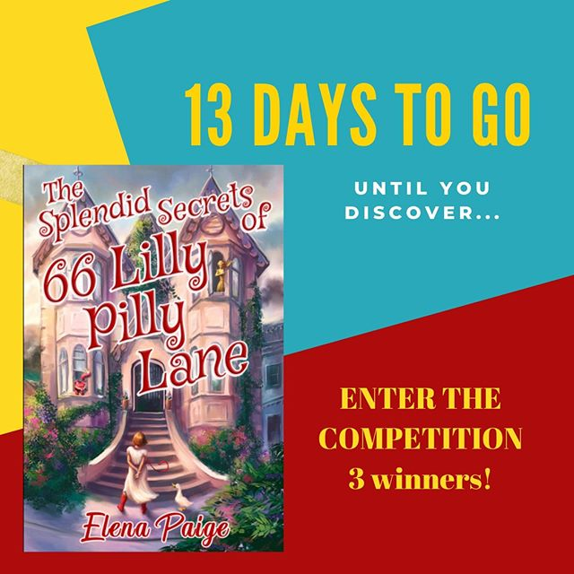 13 days to go until the exciting release of The Splendid Secrets of 66 Lilly Pilly Lane!⁣ ⁣ Enter the COMPETITION to win a HARDCOVER copy of the book and your choice of merchandise featuring the front cover!⁣ ⁣ Email me at info@elenapaige.com and tell me what do you think is⁣ inside 66 Lilly Pilly Lane, and WHO is inside there.... clues on the front⁣ cover. ⁣ ⁣ THREE WINNERS so have a go!!!⁣ ⁣ Can't wait until the 19th?...⁣ ⁣ Get your FREE EARLY COPY of the book before it's released anywhere else at www.elenapaige.com⁣ ⁣ You're going to love this fantastical fast-paced novel...