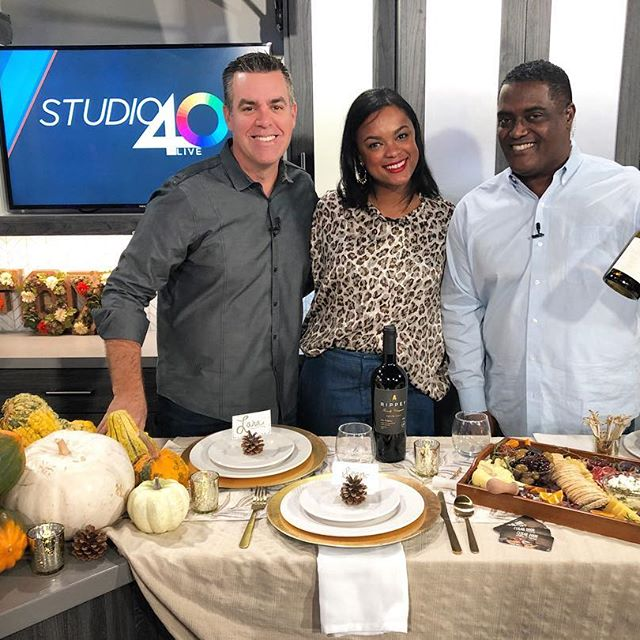 While it's always a pleasure to represent our clients, sometimes you have to go on air for your own brand awareness, too. That's just what I did this morning for @thekachetlife, sharing some holiday tablescape inspo on @studio40live! Always a good time with @bigalsams and @announcerscott. 😁 💫 Thank you to @cellardoorplatters for the amazing edible centerpiece. Julie is local AND delivers, saving us all another store run this holiday season. Had to also throw some @rippeyfamilyvineyards on the table, too. 💫 Click the link in our bio for the segment. 💫 If you're interested in being featured in an upcoming #TheKachetLife piece or would like to know how to book a segment of your own, let's chat! Shoot us a DM so we can get the ball rolling. 🤗