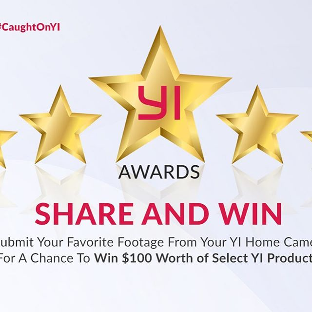 """Have you heard about the YI Awards? ⭐️ We know you enjoy having that extra peace of mind you get while using your YI Camera, maybe you've recorded something really funny that happened? Or perhaps you have footage from a loving, memorable moment with your kids? ⭐️ While many would say that those clips are """"priceless"""", that footage could actually win you $100 worth of select YI products! ⭐️ So if you have any knee-slapping, heart-warming or inspirational footage recorded with your YI Camera that you'd like to share with everyone, this is the time! ⭐️ All you have to do is post that clip to Instagram using the hashtag #CaughtOnYI and you're entered to win! A new winner will be chosen every TWO weeks! 😱💰💰 ⭐️ Learn More About The YI Awards: http://bit.ly/YIAwards"""
