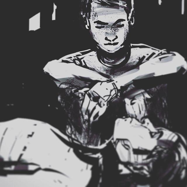 #sketch from the other day  #sketchbook #storyframe #ink #storytelling #cinematic #film #blackandwhite #ipad #artstudiopro