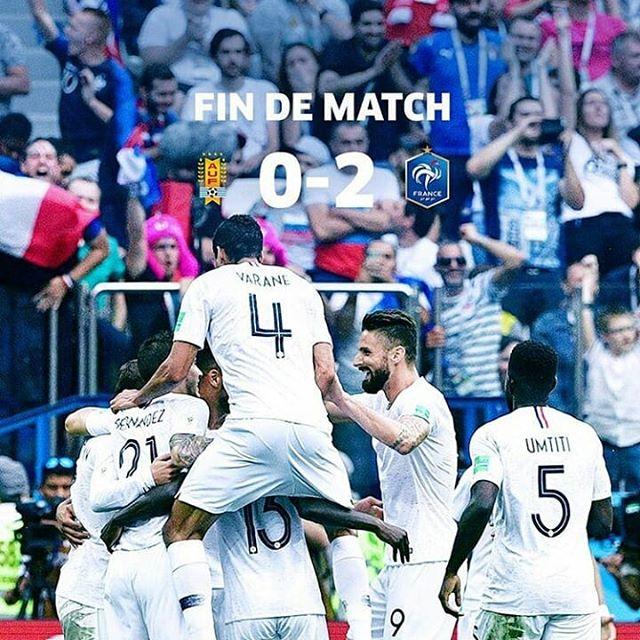 Uruguay 0-2 Francia Copa Mundial Rusia 2018