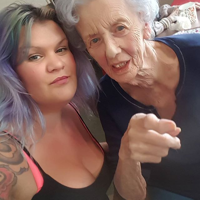 Me gorgeous nan was 90 today!! She's been getting a silver blue tone gradually done to her hair after you'res truely!! 😉😊Such a superstar!! 😍🔥😍