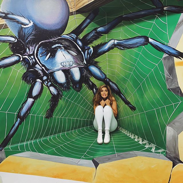Guys go and visit @museumofillusions.la so much fun!!!!! I had so much fun and scary! With my giant spider friend