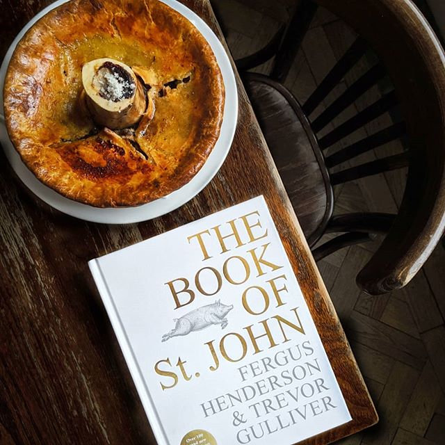 Celebrating 25 years of @st.john.restaurant with *THIS* advanced copy of The #BookOfStJohn by industry legends #FergusHenderson and #TrevorGulliver (published by @eburybooks) which includes over 100 brand new recipes, each of which has held a significant place in the St. JOHN kitchens over the last 25 years || My personal favourites include the trotter & bone marrow pie plus the INSANELY delicious whipped cod's roe with potato cakes & oozy egg... and all the desserts! 🍦 || The recipe book will be released early next month ~ but you can pre-order signed copies via the link over @st.john.restaurant's