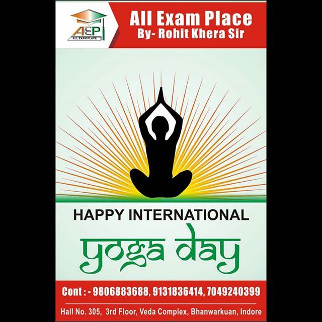 Happy International Yoga Day To All Of You.😊💐 #yogaday #allexamplace #newbatches #started #joinus