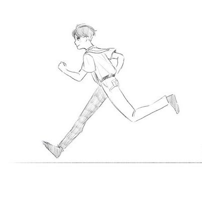 run and walk practice hhhh still looking rough ma boi #animation #simpleanimation #2danimation #runcycle #walkcycle #photoshop #motion #oc #doodle #digitalart #art #sketch