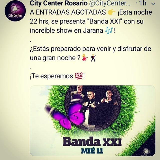 By @citycenterros Esta noche #EntradasAgotadas