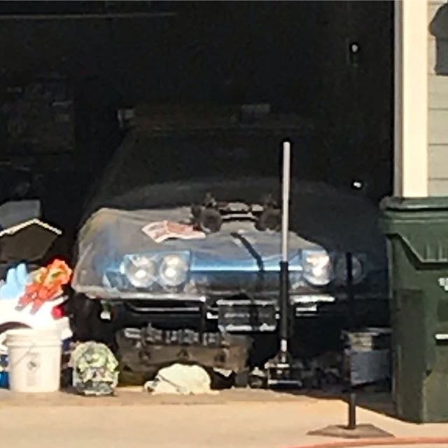 Check out this mid year corvette. It's been in his garage for 3 years now. He still won't sell it to me. #corvette #c2corvette #c2corvetteroadster #corvetteblue #garagefindcorvette