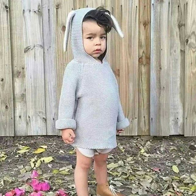 Bunny ears on sweaters are just the cutest thing ever! 😍  Even on grumpy days 🙈....... See link in bio. We ship FREE worldwide 👌 #mysweetdarling #mysweetdarlingshop