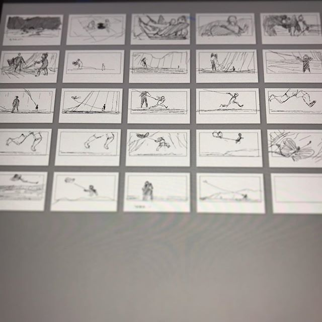 Thumbnailing some recent memories.. .. .. #thumbnails #postit #story #storytelling #storyboard #memories #family