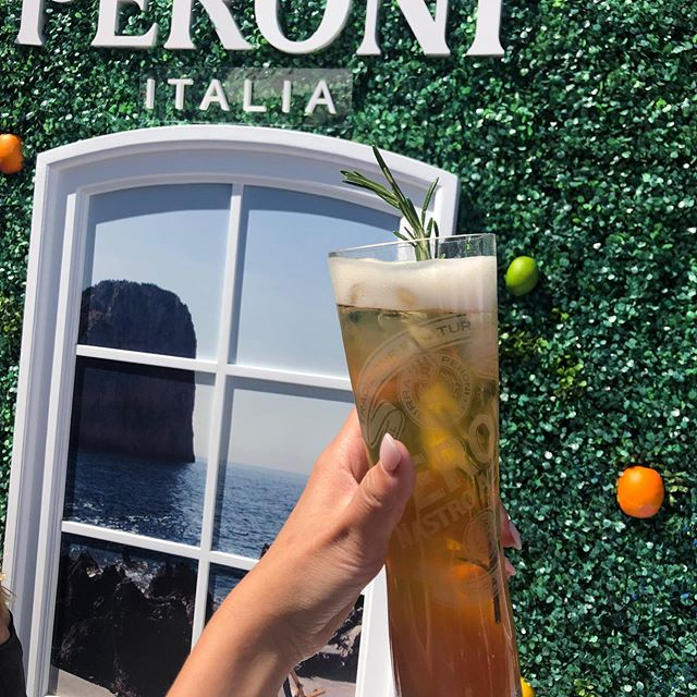 At the Coupe Rogers? Pass by the Terraces Peroni and have a Bar George Peroni Cocktail! 📷@don_t.mind.me  #couperogers #bargeorge #peronicanada