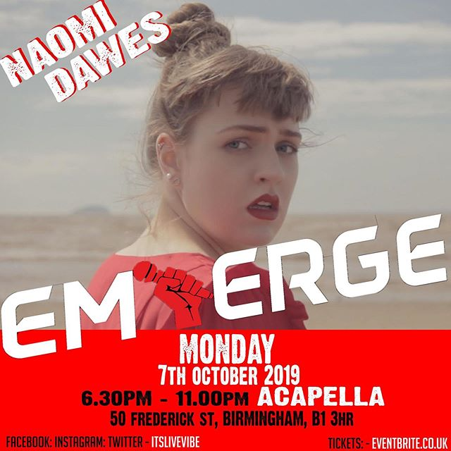 🌸NEXT SHOW🌸  I'm performing at the Emerge Live Vibe event!  All the info is on the flyer ⬆️⬆️⬆️ And my personal ticket link is in my bio x