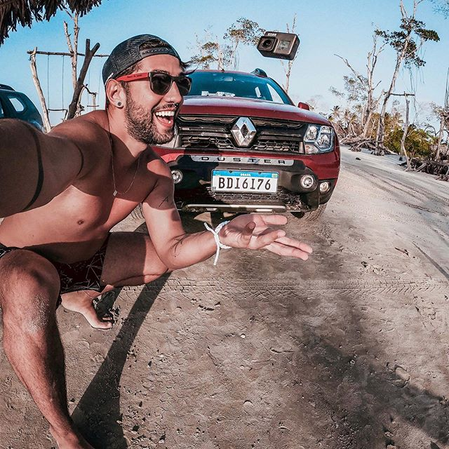 o #DusterGoProBR vem com uma #GoProHERO7 Black pra registrar todos os momentos!!! 😏 Fica a dica pra qm vai comprar um carro ou trocar em breve 😈😈😈