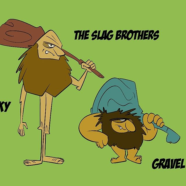 More Wacky Races! This I thought I would take a crack at re-designing The Slag Brothers in their The Boulder Mobile!  The Slag Brothers in their The Boulder Mobile!  #cartoon  #wackyraces  #animation #boomerang #SlagBrothers #TheBoulderMobile #Cartoons #HannaBarbera #HannaBarberaCartoons #Art  #saturdaymorningcartoons #saturdaycartoons  #instaartist  #instaart  #instaarts #illustration  #drawing  #CSP  #cartoonnetwork