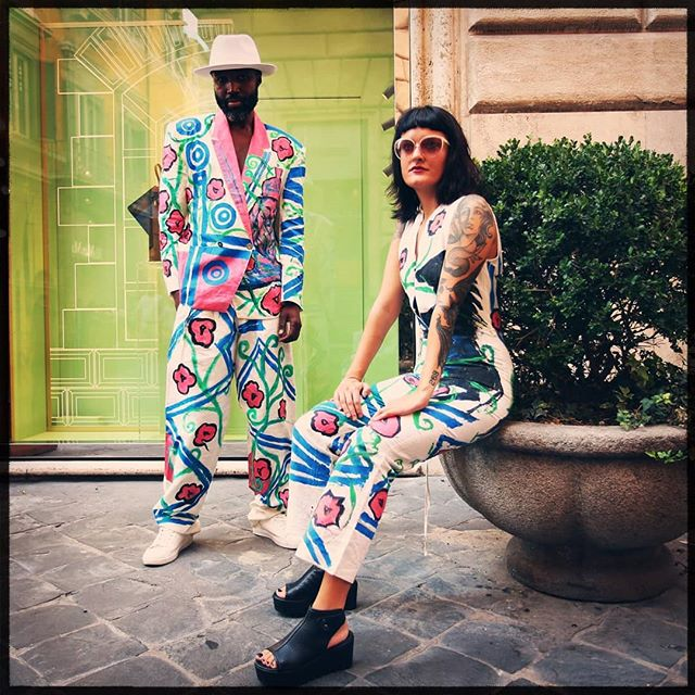 The legend @nicola.casamassima2.0  Jardin de l'amour 💐  ______________________________________________Star model @arli_jewelry_artist @nicola.casamassima2.0 Photography  #Collectionjardin #streetstylephotography #lifestyle #dapperoutfits #gentlemanjack #gentlewomanstyle #afropunk pickoftheday