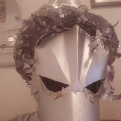 Silver crow mask