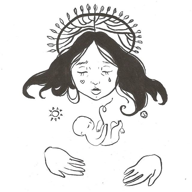 Mãe natureza .#illustration #ilustração #nanquim