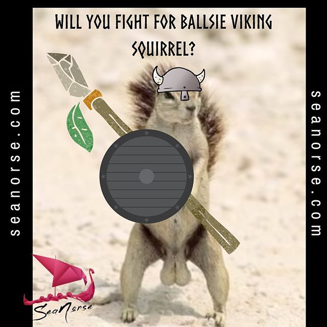 Grow the Viking squirrel army. Share with everyone!